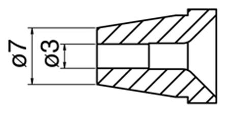 HAKKO - N60-07 - Desoldering nozzle for FR-400, 3 / 7 mm, WL42254
