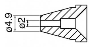 HAKKO - N60-05 - Desoldering nozzle for FR-400, 2 / 4,9 mm, WL43851