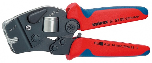KNIPEX - 97 53 09 - Self-adjusting crimping pliers, for wire end ferrules with front entry, WL33541