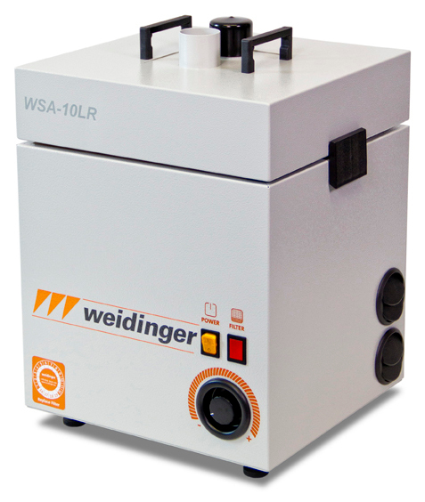 WEID 0160.1-MD.11.10.6022 - Solder fume extraction unit, 2 suction nozzles 80 m3/h at 1900 Pa, WL37327