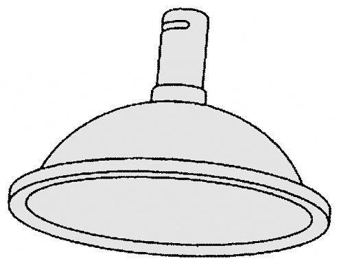 ALSIDENT - 1-5035-6 - ESD suction hood round DN50, D: 385 mm / black, WL20654