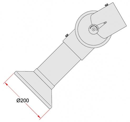 ALSIDENT - 1-10024-7-5 - Rundhaube weiß, System 100, D 200 mm, WL32951