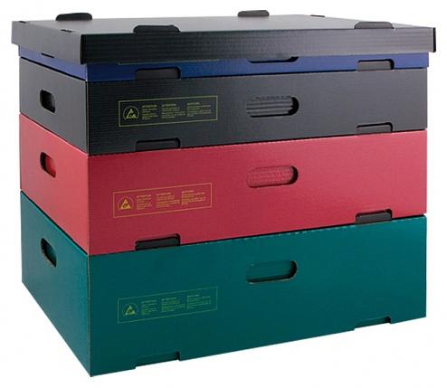 HANS KOLB - 15-CSC - ESD Stapelcontainer grün, 389x278x227 mm, WL31571