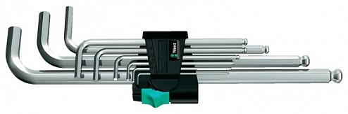 WERA - 05022087001 - 950 PKL/9 SM N Angle wrench set, metric, chrome plated, WL36894