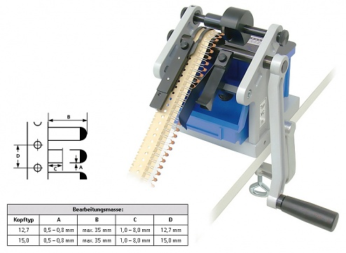 SCHLEUNIGER - VARIOCUT - Cutting device 0.8/radial, pitch 15 mm, WL43088