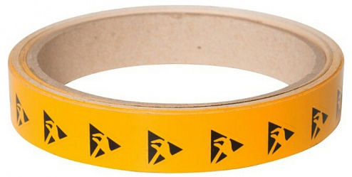 WARMBIER - 2850.12.5 - ESDS warning sign, triangle, side length 12.5 mm, PVC, WL33964