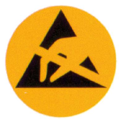 WARMBIER - 2850.6 - Warning sign, round, paper, 6 mm, WL19653