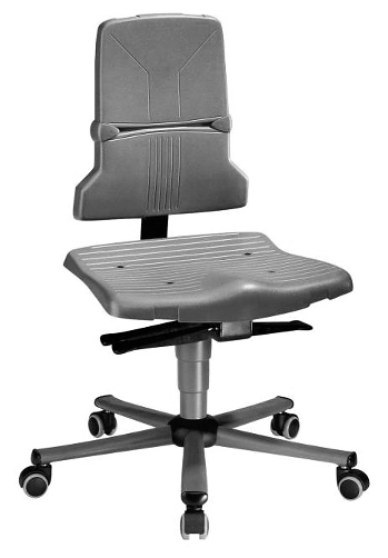 BIMOS - 9813E/1100 - ESD chair Sintec 2 with castors, permanent contact and seat inclination, WL31095