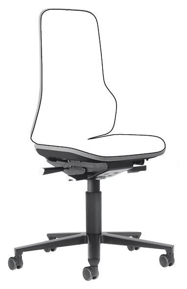 BIMOS - 9573-9999-3278 - Neon 2 Arbeitsstuhl mit Rollen, Flexband grau Synchrontechnik, WL40160