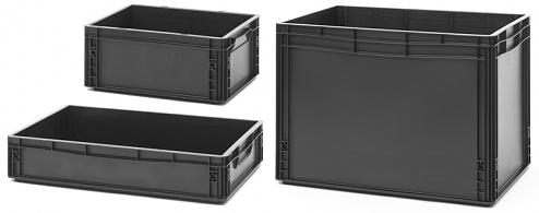 DIVERS - ESD EG 64/75 HG - ESD-Eurobehälter 600x400x75 mm, WL25623
