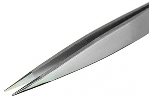 PIERGIACOMI - 00 SA - Tweezers, with thick and flat tips, 120 mm, WL33102