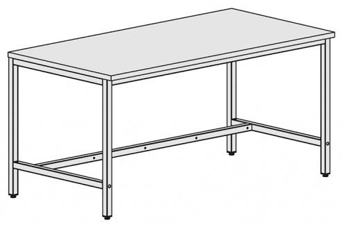KARL - 31.125.63 - Worktable Basic, hard laminate, light grey, 1600x800 mm, WL34833