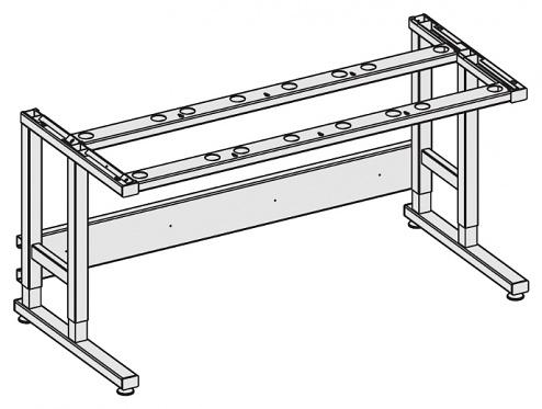 KARL - 26.046.70 - ESD Tischgestell Standard Sintro, manuell verstellbar mit Klemmschrauben, lichtgraues Gestell, 1830 x 900 mm, WL36930