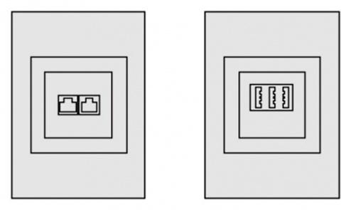 KARL - 95.529.70 - Telefonanschlussdose Sintro, für Elektroanschlussleisten, 100 mm, WL34842