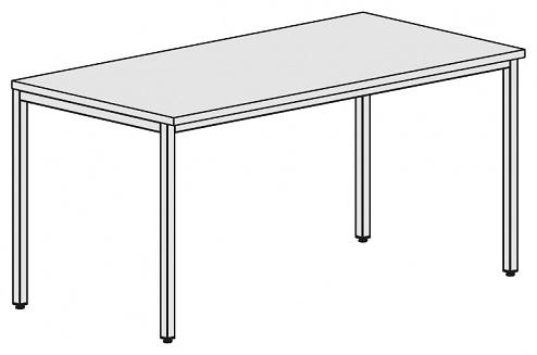 KARL - 31.045.66 - ESD Arbeitstisch Basic, ESD-Hartlaminat, manuell verstellbar, grau, 2000x1000 mm, WL34143