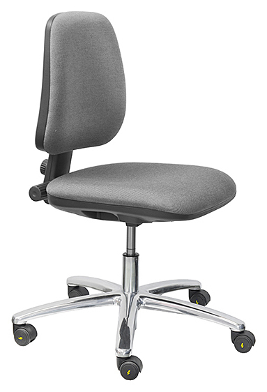 THRONA - A-VL1011AS-ESD2 - ESD Chair BASIC, with castors, fabric anthracite, permanent contact, WL28290