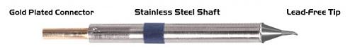 "THERMALTRONICS - K60SB005 - Soldering tip sharply bent 30° 0,51mm (0,02""), WL37591"