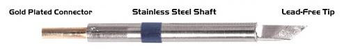 """THERMALTRONICS - K60DS061 - Soldering tip knife shape 4.50mm (0.177""""), enlarged tin range 6.1mm (0.24""""), WL37579"""