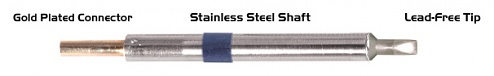 """THERMALTRONICS - K60CH032A - 30° 3.20mm (0.13"""") Chisel soldering tip, WL37570"""