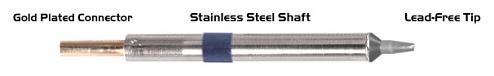 "THERMALTRONICS - K60CH016 - Soldering tip chisel 30° 1,78mm (0,07""), WL37566"
