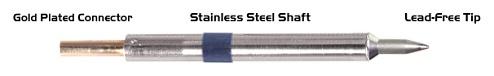 "THERMALTRONICS - K60CH006 - Soldering Tip Chisel 30° 0.6mm (0.024""), Micro Fine, WL37561"