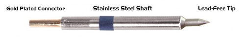"""THERMALTRONICS - K60C004 - Conical soldering tip 0.40mm (0.016""""), Micro Fine, WL37559"""