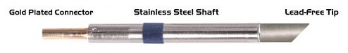 """THERMALTRONICS - K60BVF060 - Soldering tip bevelled 45° 6,00mm (0,24""""), only bevelled surface tinned, WL37556"""