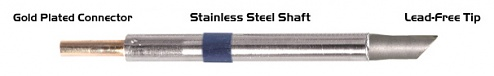 """THERMALTRONICS - K60BVF050 - Soldering tip bevelled 45° 5,00mm (0,20""""), only bevelled surface tinned, WL37555"""
