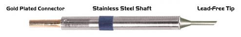 "THERMALTRONICS - K60BVF020 - Soldering tip bevelled 45° 2,00mm (0,08""), only bevelled surface tinned, WL37553"