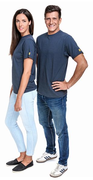 SAFEGUARD - SafeGuard PRO - ESD T-Shirt round neck dark grey 150g/m², 5XL, WL39647