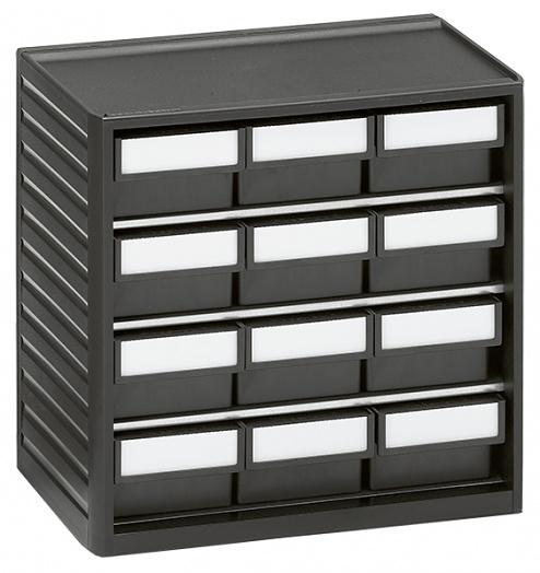 TRESTON - 294-4ESD - ESD small parts magazine, 12 drawers, 310x180x290 mm, WL36936