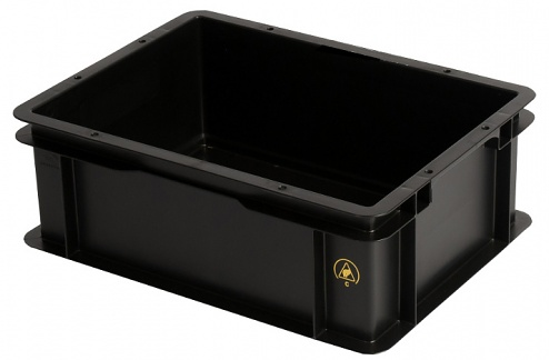 WEZ - 4313.097. - ESD container 400x300x145 mm, light, WL35688