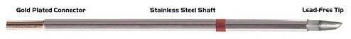 "THERMALTRONICS - M8WV300 - Soldering tip hoof shape w/Dent 45° 2,40mm (0,09""), WL38004"