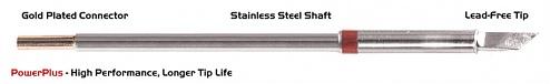 "THERMALTRONICS - M8DS526H - Soldering tip knife shape 4.50mm (0.177""), enlarged tin range 6.1mm (0.24""), Power Plus, WL37984"