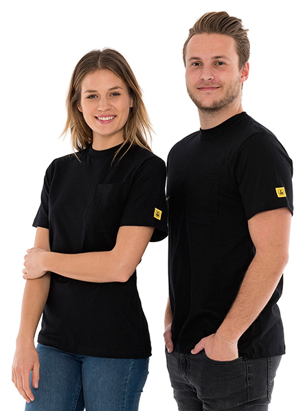 SAFEGUARD - SafeGuard PRO - ESD T-Shirt round neck black, breast pocket, 150g/m², 2XL, WL44695