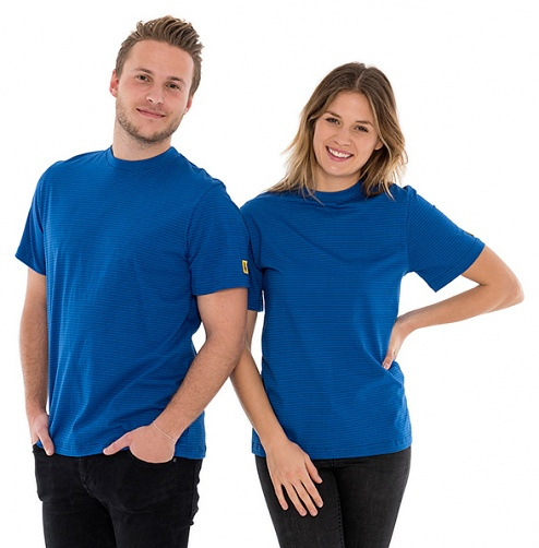 SAFEGUARD - SafeGuard PRO - ESD T-Shirt round neck royal blue, 150g/m², XL, WL42170