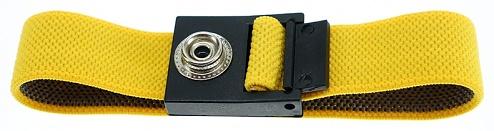 SAFEGUARD - SAFEGUARD ESD - ESD bracelet yellow, 10 mm push button, WL42058