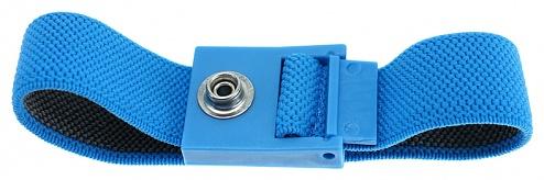 SAFEGUARD - SAFEGUARD ESD - ESD-Armband hellblau, 7 mm Druckknopf, WL42054