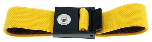 SAFEGUARD - SAFEGUARD ESD - ESD Wristband yellow, 3 mm push button, WL42052