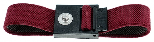 SAFEGUARD - SAFEGUARD ESD - ESD Wristband red, 3 mm snap fastener, WL24919