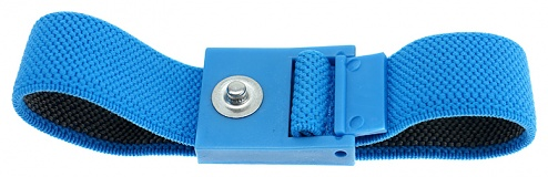 SAFEGUARD - SAFEGUARD ESD - ESD Wristband light blue, 3 mm snap fastener, WL42051