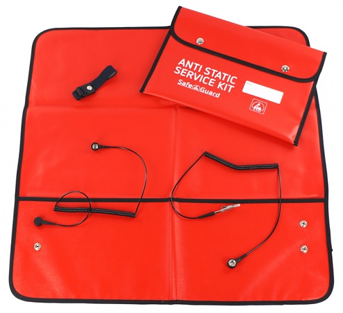 DIVERSE - SAFEGUARD - ESD Service Kit, red, antistatic, WL24956