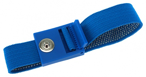 SAFEGUARD - SAFEGUARD ESD PRO - ESD wrist strap light blue, 3 mm snap fastener, toothed clasp, WL19531