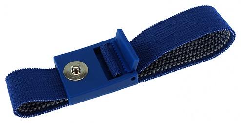 SAFEGUARD - 2051.750.3 - ESD bracelet dark blue, 3 mm snap fastener, toothed clasp, WL20421