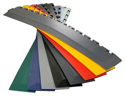 ECOTILE - E57.100 - PVC corner ramp, black, 7 mm > 1 mm, 590 x 70 mm, WL41883