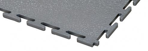 ECOTILE - E500/10/221 - PVC floor tile, dark grey, standard, smooth, 500 x 500 x 10 mm, WL41926