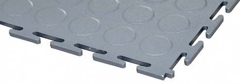 ECOTILE - E500/7/220 - PVC floor tile, grey, standard, burled, 500 x 500 x 7 mm, WL41871