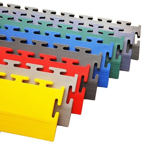 ECOTILE - E57.221 - PVC floor ramp, dark grey, 7 mm > 1 mm, 500 x 70 mm, WL41893