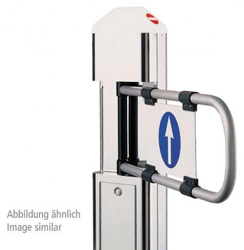 GUNNEBO - PASS-O-MAT DOPPELANLAGE - Pass-O-Mat swivel arm double system, with motor drive, WL38842