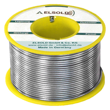 ELSOLD - RÖLOT5456 - Solder wire Sn96.5Ag3Cu0.5, 1.0 mm / 3064 (lead-free), WL30977